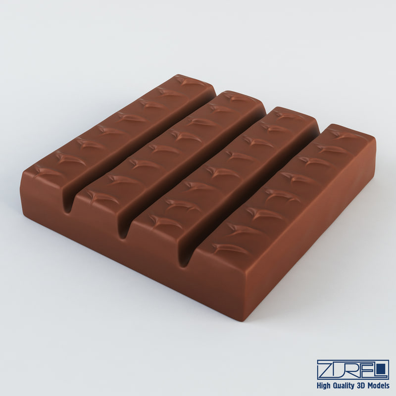 snickers chocolate candy 3d model