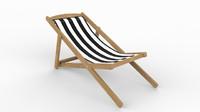 deckchair chair 3d max