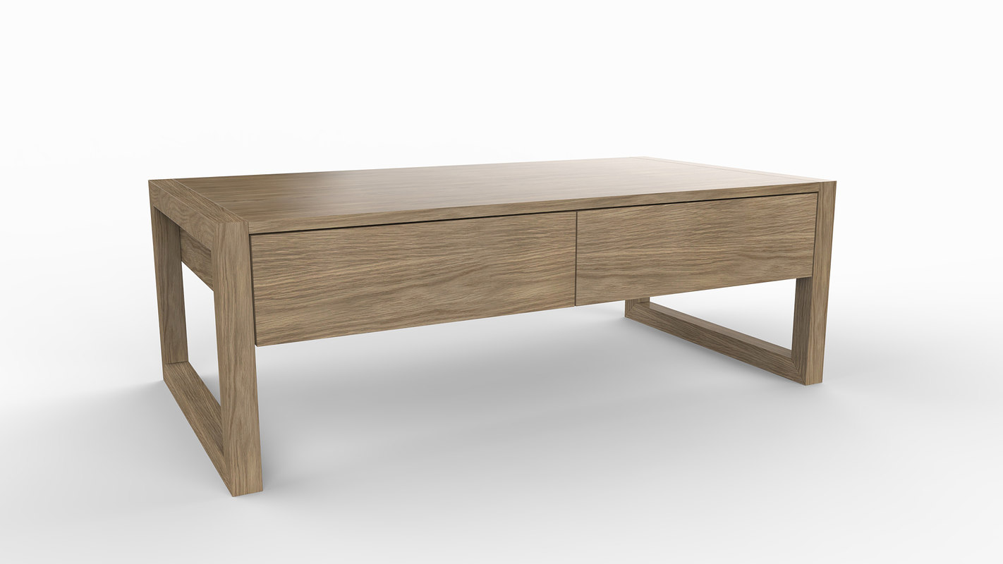 line coffee table 3d model