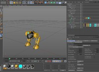 Robot Biped Rigged