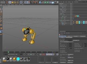 3d model robot biped rigged