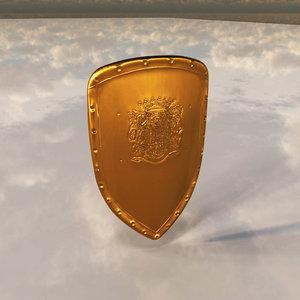 gold shield 3d model