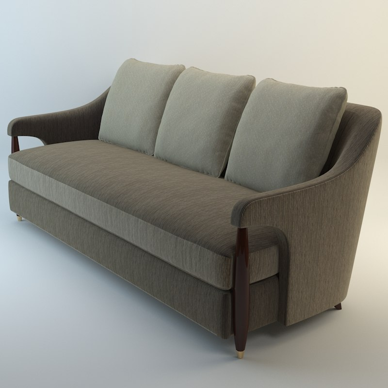 3d model baker hermano sofa