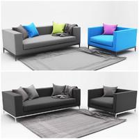 sofa color 3d model