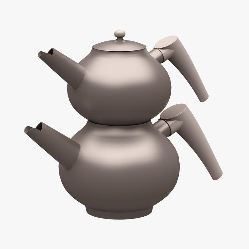3d kitchen accessorie teapot model