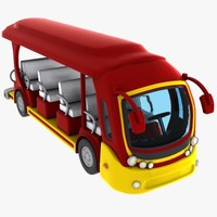 3d model cartoon tour bus