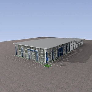 3d model showroom autohouse