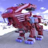 3d future robotic lion