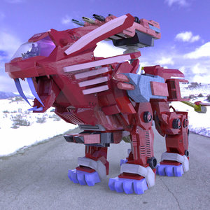 3d future robotic lion