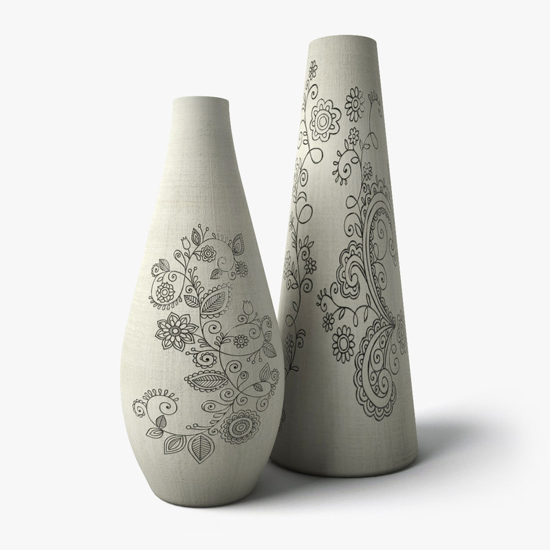 3d painted flower vases 2