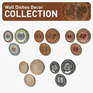 wall dish decor 3d 3ds