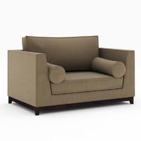 chair half sofa 3d model