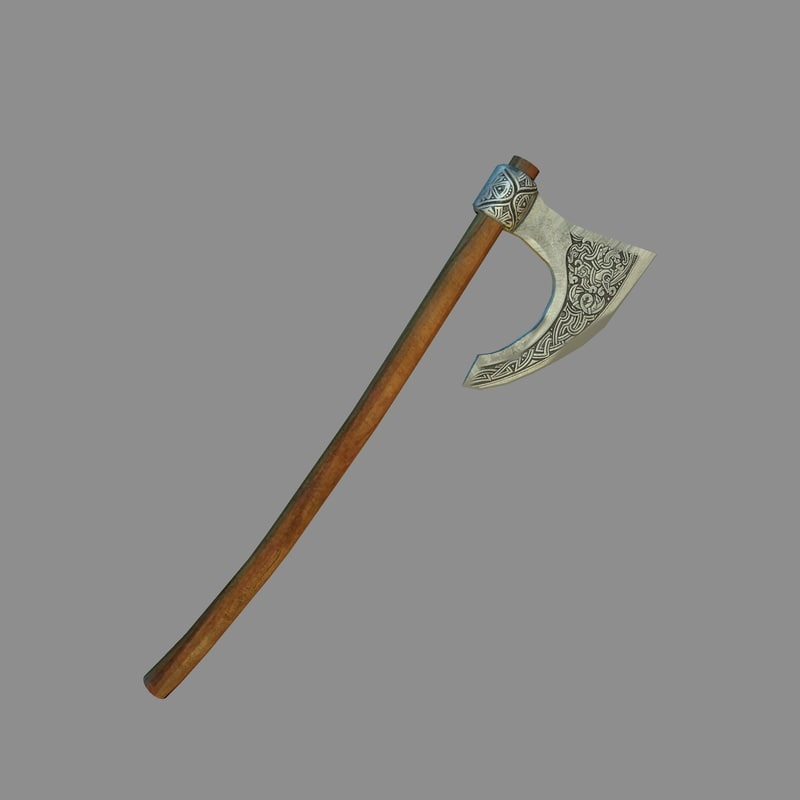 free battle axe 3d model