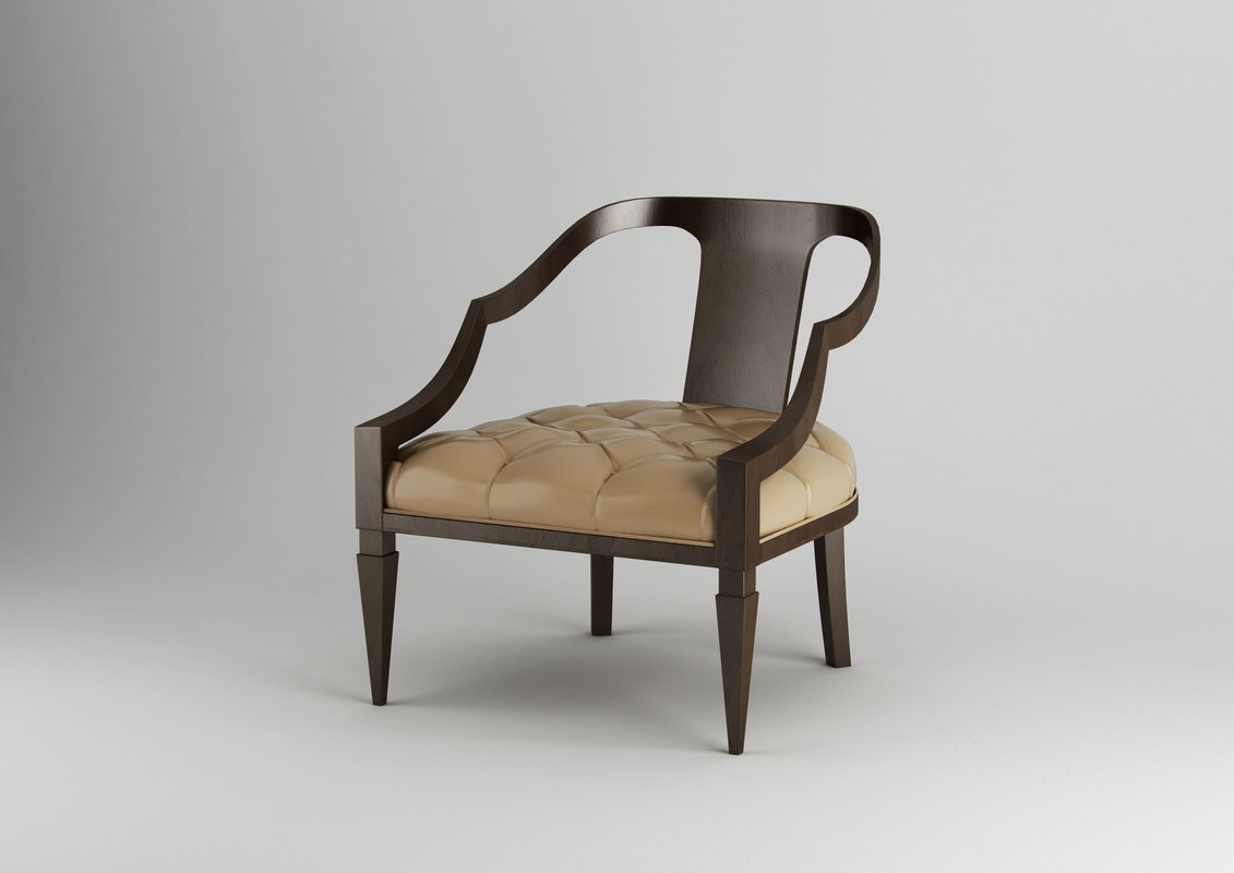 3d dante lounge chair model