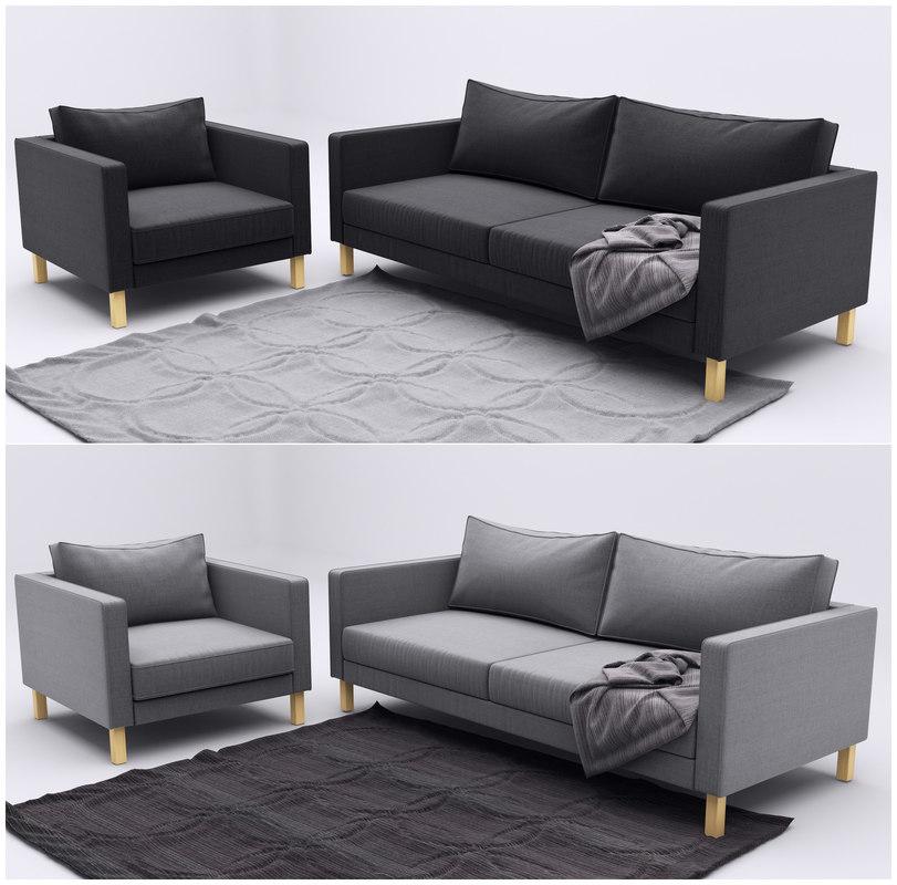 maya ikea karlstad 2 sofa