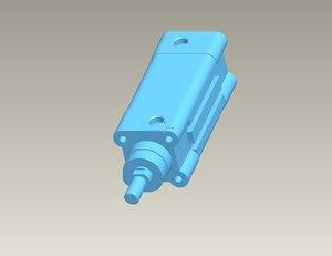 cylinder pneumatic 3d obj