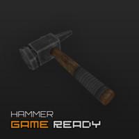 3d ready hammer model