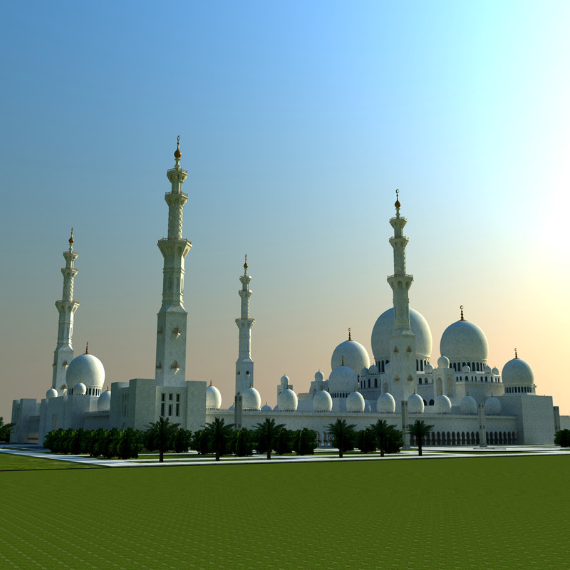 3ds sheikh zayed mosque