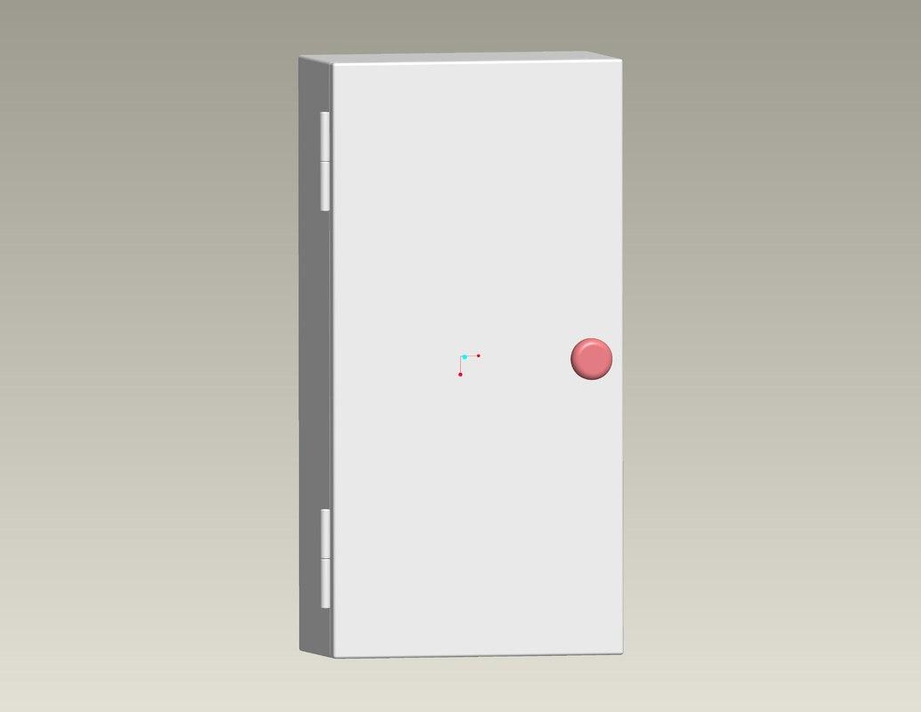 cabinet rittal 3d model