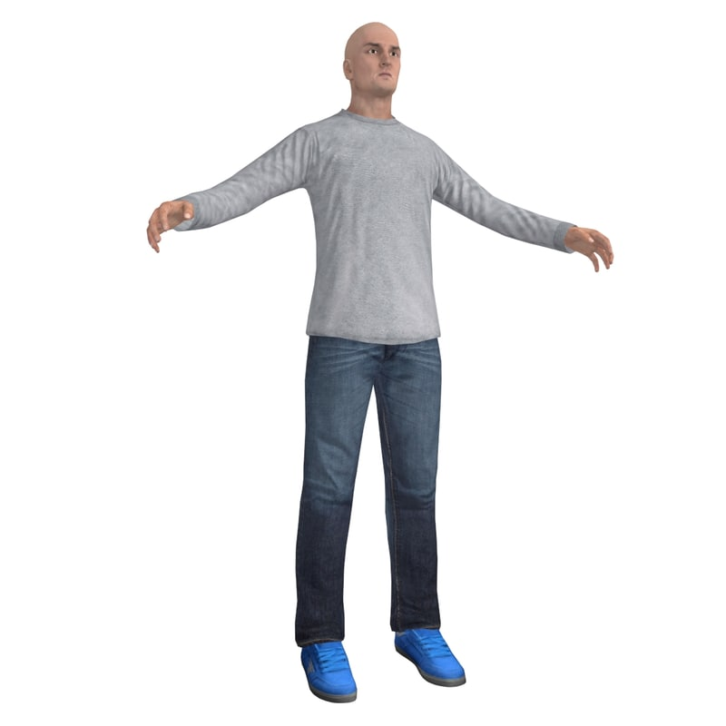 casual man 2 3d model