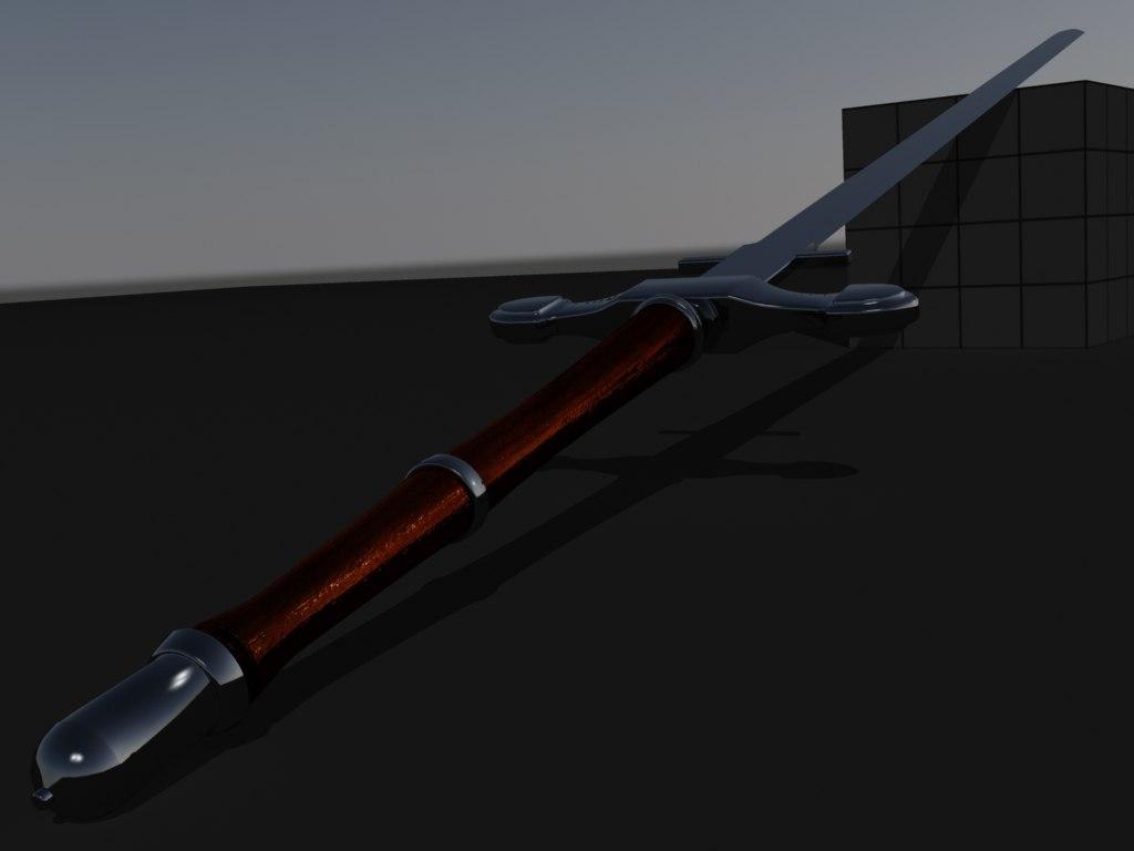 3d slim elegant sword