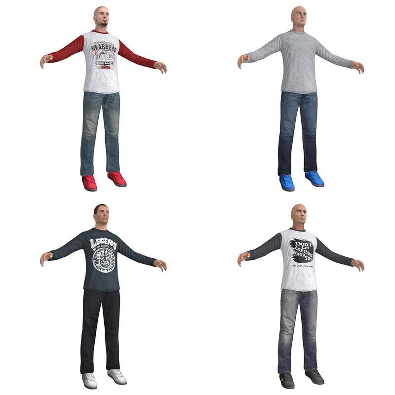 3d model pack casual