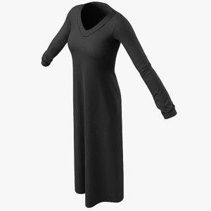 arabic woman dress 3d 3ds