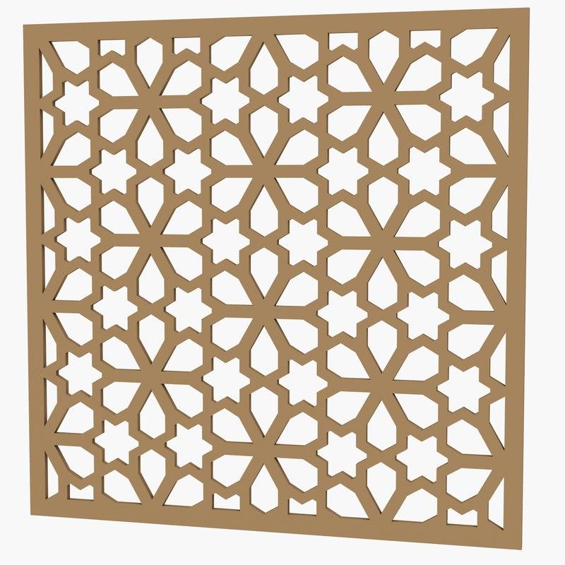3d max decorative panel