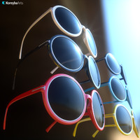 Eyewear Carrie Round Plastic Sunglasses