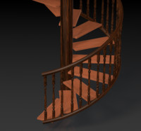 3d spiral staircase house building