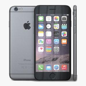 3d model apple iphone 6 space