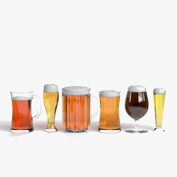 3d model beer glasses