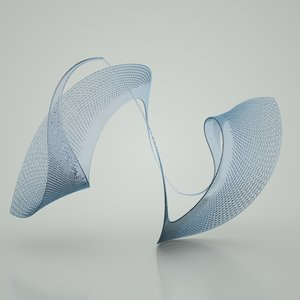 3d model of glass sculpture