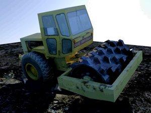 road compactor 3d model