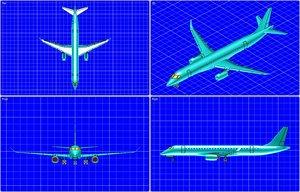 3ds max mitsubishi mrj aircraft solid