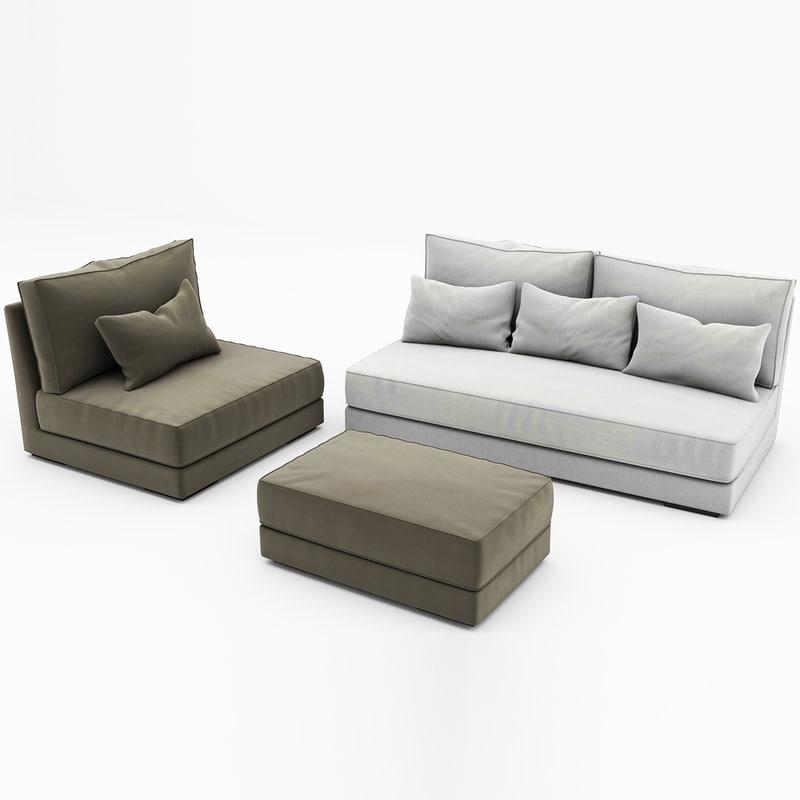 3d max chill sofa