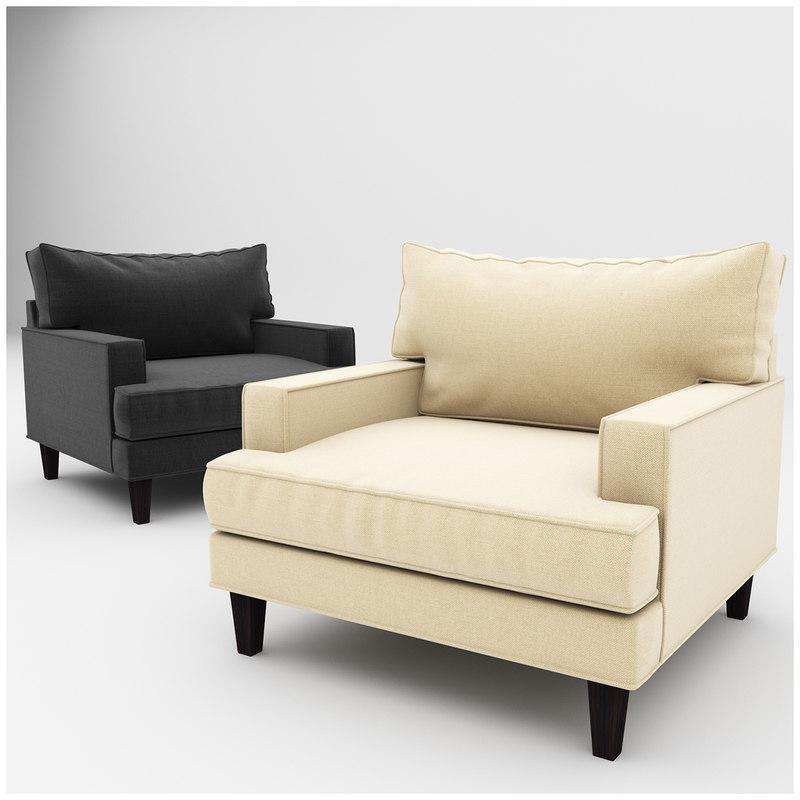 3d model ramey armchair chair
