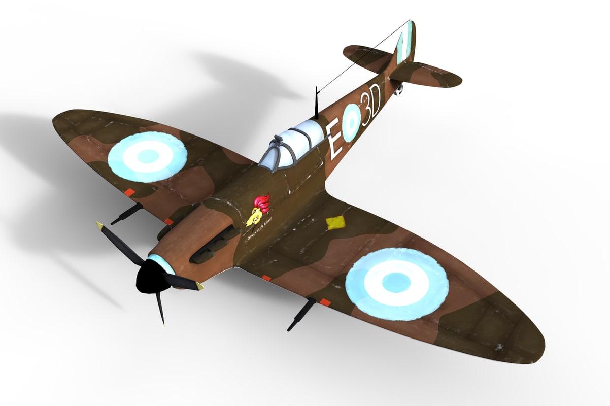 spitfire mkii 3d obj