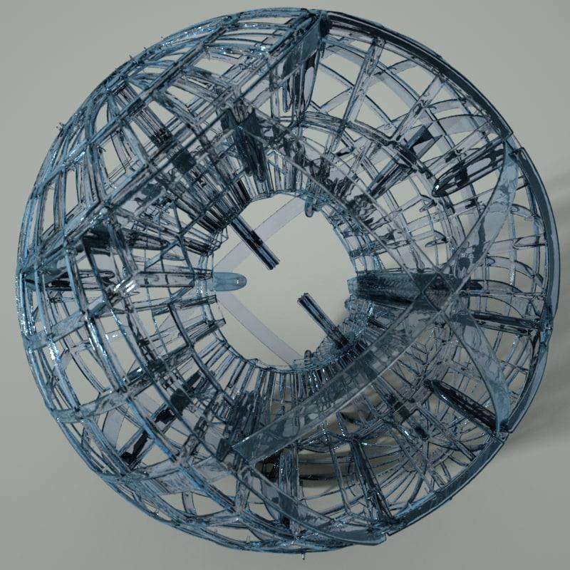 glass sculpture 3d model