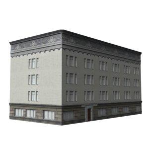 3d 3ds apartment building