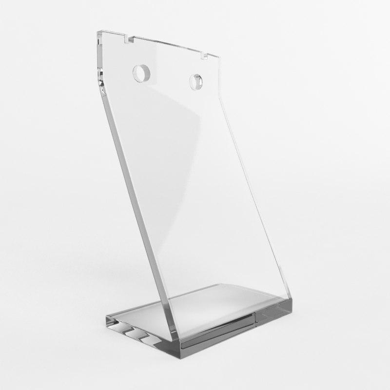 3d model acrylic jewelry holder