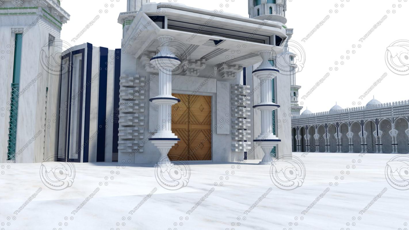 3d model islamic mosque