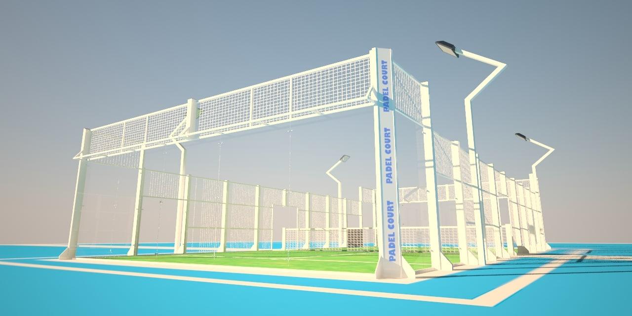 padel court 3d model