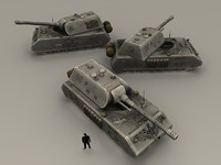 Maus tank low poly