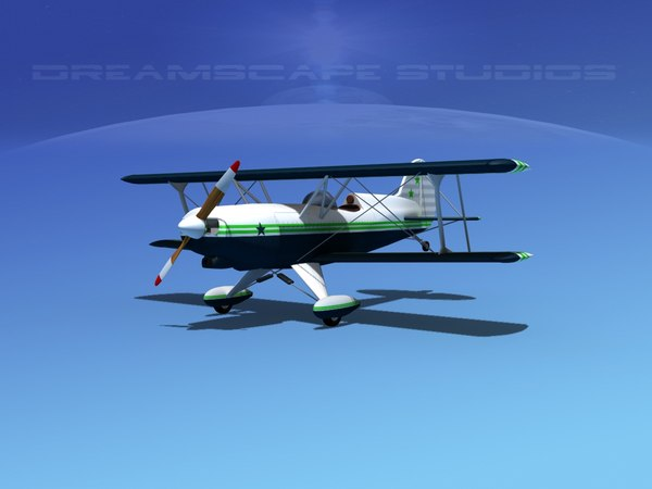 3d model of propeller acro sport biplane