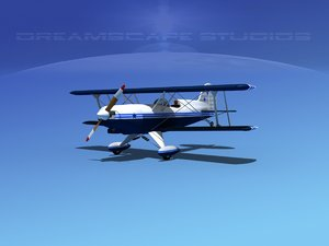 3d max propeller acro sport biplane
