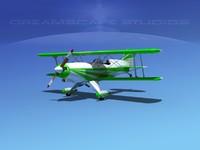 propeller acro sport biplane 3d model