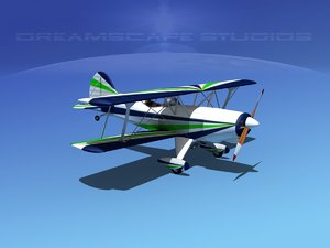 propeller acro sport biplane 3d max