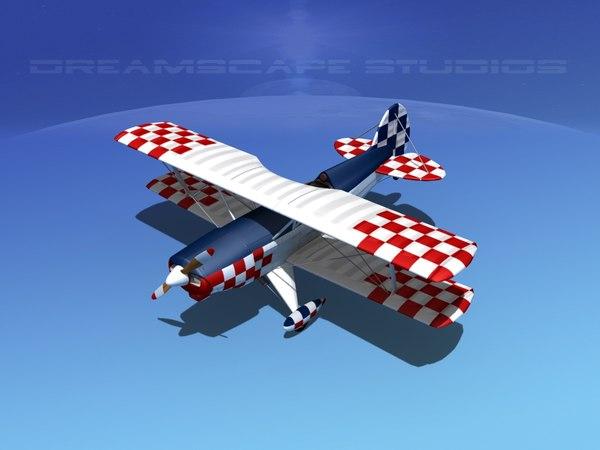3d dwg propeller acro sport biplane