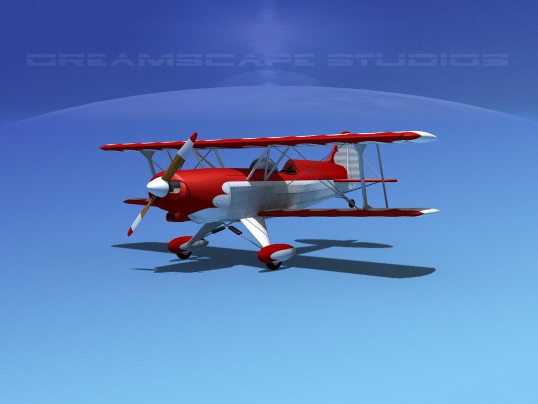 acro sport plane biplane 3ds